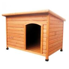 LARGE WOODEN OUTDOOR PET DOG HOUSE KENNEL HOME GARDEN SHELTER LOCAKBLE DOOR