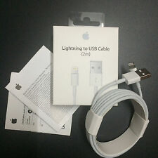 2M Original Apple Lightning USB Charge Sync Cable for Apple iPhone 5 6 6s 7 plus