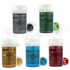 Sugarflair - Satin Paste - Full Set of 5 - Concentrated metallic food colour gel