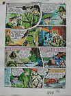 JACK KIRBY Joe Simon CAPTAIN AMERICA #8 pg 23 HAND COLORED ART Theakston 1989