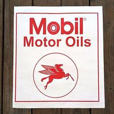4 Original 1960s MOBIL MOTOR OIL GAS Automobile Car Paper FLOOR MAT Pegasus NOS