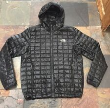 MEN'S THE NORTH FACE thermoball Giacca M Medium Nero Cappotto impennata Felpa con Cappuccio