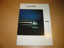 CATALOGUE Saab 9000 de 1989