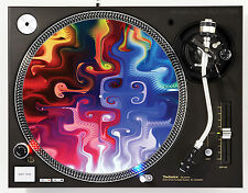 DJ INDUSTRIES SPECTRAL SWIRL - DJ SLIPMATS (1 PAIR) 1200's or any turntable