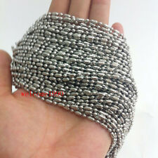 on sale 10 meters Stainless Steel Rice Beads Chain finding Jewelry Marking 2.4MM