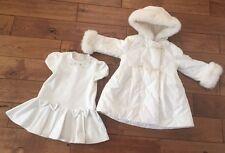 Ragazze Designer BIMBALO 2 Pezzi Suit Dress & corrispondenza Cappotto Età 2