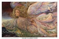 JOSEPHINE WALL ~ NATURE'S GUARDIAN ANGEL 24x36 FANTASY ART POSTER Fine Fairy