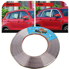 New 15M 6mm Silver  Car Auto Chrome Moulding Trim Strip For Window Bumper Grille