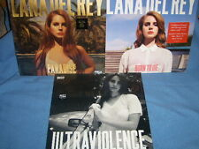 LANA DEL REY ULTRAVIOLENCE , BORN TO DIE & PARADISE VINYL LP SET OF 3 SEALED