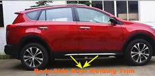 Stainless Steel Body Side Door Molding Trim For 2013 2014 Toyota RAV4 RAV 4 New