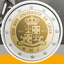 Prevente 2 Euros Commémorative Belgique 2017 ''Université Liège'' BU