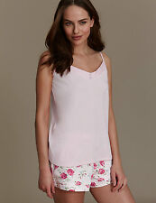 NEW M&S Emma Bridgewater Pink Camisole Floral Rose Shorts Pyjamas UK 20 EUR 48