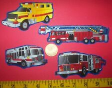 New! Cool! Emergency Vehicles IRON-ONS FABRIC APPLIQUES IRON-ONS