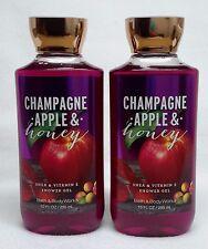 2 Bath & Body Works Champagne Apple & Honey Body Wash / Shower Gel NEW