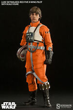 "Star Wars LUKE SKYWALKER RED FIVE X-WING PILOT 12"" Figure 1/6 Scale Sideshow"