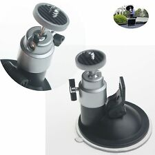 "2017 1/4"" Screw Camcorder Silver Suction Cup Mount Flexible Tripod Camera Holder"