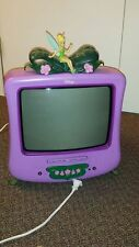 Disney Tinkerbell 20 Inch CRT TV Television DVD Player: Tested Remote RARE!