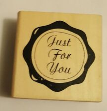 Wood Backed Rubber Stamp Anitas Just For You Wax Seal