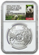 2016 China 1 oz Silver Official Issue Anaheim ANA NGC PF69 Panda Label SKU42640