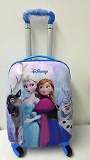 Frozen Elsa Kids Hard Shell 4 Wheel Travel Luggage Cabin Suitcase Trolley Bag UK