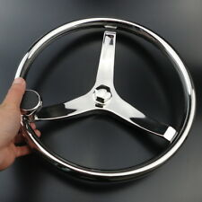 "New Arrival Boat Steering Wheel 3 Spoke 13-1/2"" Dia. For SeaStar and Verado ****"