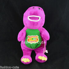 New Purple Barney Soft Plush Stuffed Toy Doll Sing I LOVE YOU song Gift 30cm