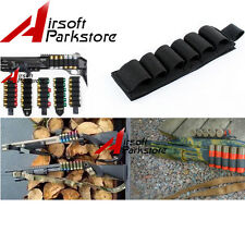 1pc Airsoft Tactical Hunting Shotgun Shell Ammo Carrier Holder 6 Round 12GA 20GA