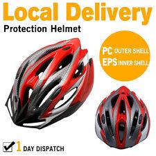 AU Local Unisex Adult Bike Bicycle Safety Helmet Road & MTB Cycling Visor RED AU
