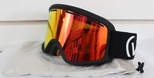 New Von Zipper Beefy Snowboard Ski Goggles Black Fire Chrome Lens Vonzipper