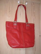 new unused COACH RED LEATHER TOTE BAG HANDBAG