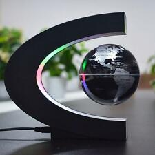 C shape LED Light World Map Magnetic Levitating Floating Globe Home Decoration