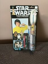 VINTAGE 1977 KENNER STAR WARS RARE ELECTRIC TOOTHBRUSH SET MINT ON THE CARD