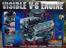V 8 Motor, durchsichtig mit Funktion Skill 5!!, 1:4, Revell USA 8883