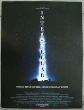 INTERSTELLAR Affiche Cinéma / Movie Poster CHRISTOPHER NOLAN