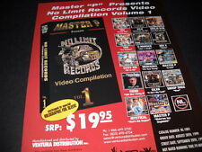 MASTER P presents SILK Soulja Slim SNOOP C-Murder others PROMO DISPLAY ADVERT