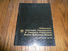 1985 Oldsmobile Auto Transmission & Transaxle Pub Source Reference Manual