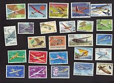 25 ALL DIFFERENT GLIDERS ON  STAMPS (AIR PLANES)