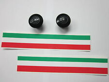 NOS CINELLI HANDLEBAR END PLUGS CAPS BLACK WITH ITALY/ITALIAN FLAG TAPES