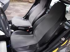 GREY-BLACK FABRIC & LEATHER SEAT COVERS TAILORED FOR SMART CITY COUPE FORTWO