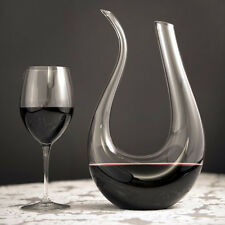 Luxury Crystal Glass U-shaped Horn Wine Decanter Pourer Container Dinner Party