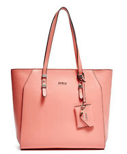 NWT GUESS Gia Carryall Tote Shopper Handbag Purse Coral Pink