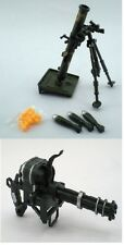Mortar Tube Rocket AND Gatling Machine Gun 1:8 Scale Military Gi joe Accessory