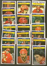 1982 - 83 0 PEE CHEE OPC Hockey CALGARY FLAMES Near Team Set Lot