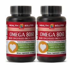 Fish Oil Capsules - OMEGA 8060 1500MG - Provides Many Benefits for Bones - 2Bot