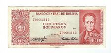 Bolivia - One Hundred (100) Bolivianos, 1962  !!Replacement!!