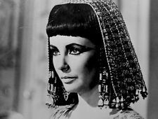 Elizabeth Taylor Press Photo 1963 Cleopatra 20th Century Fox Films Stamped VTG