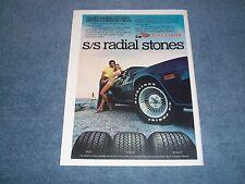 "1978 Firestone Vintage Tire Ad ""S/S Radial Stones"" Camaro Z/28"