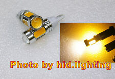 2x T10 T15 921 7.5W Golden Yellow Lens Cree Q5 Car Signal parking LED Light Bulb