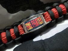 Fallen FIREFIGHTER Thin Red Line EMT EMS 550lb Paracord Key Fob w/ Carabiner