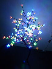 80CM 128LED MULTI-COLOURED BONSAI CHERRY BLOSSOM CHRISTMAS OUTDOOR TREE